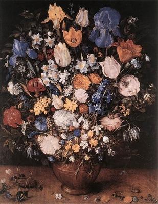 BRUEGHEL Jan the Elder Bouquet In A Clay Vase