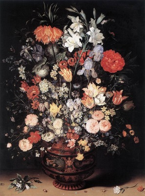 BRUEGHEL Jan the Elder Flowers In A Vase