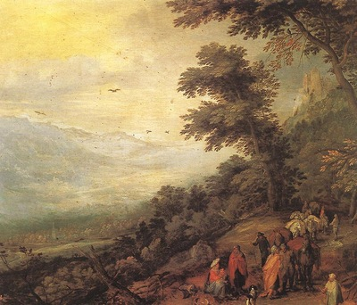 BRUEGHEL Jan the Elder Gathering Of Gypsies In The Wood