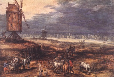 BRUEGHEL Jan the Elder Landscape With Windmills