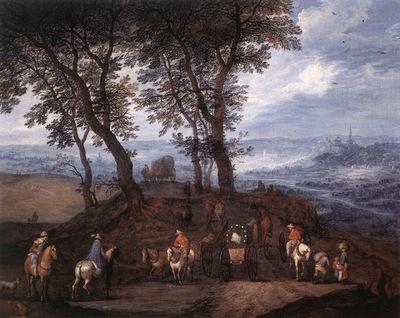 BRUEGHEL Jan the Elder Travellers On The Way