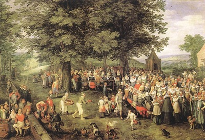 BRUEGHEL Jan the Elder Wedding Banquet