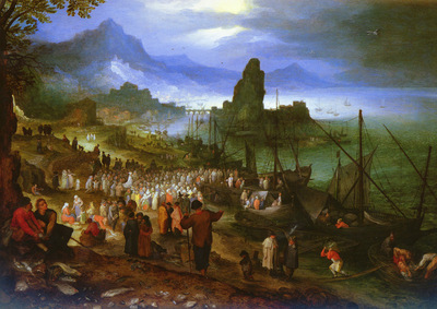 Brueghel%20Jan%20the%20Elder%201568%20to%201625%20%20Christ%20Preaching%20At%20The%20Seaport%20O P%2026 4%20by%2035 7cm