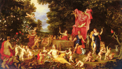 Brueghel Jan the Elder 1568 to 1625 and Van Balen Hendrick the Elder 1575 to 1632 An Allegory Of
