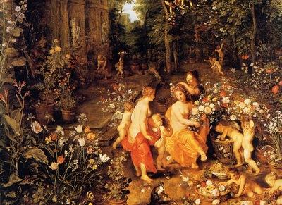 Jan Bruegel Flora au jardin, De