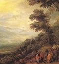 BRUEGHEL Jan the Elder Gathering Of Gypsies In The Wood