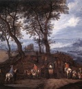 BRUEGHEL Jan the Elder Travellers On The Way