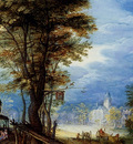 Breughel Jan A Village Street With The Holy Family Arriving At An Inn detail
