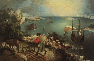 bruegel, pieter landscape with the fall of icarus,