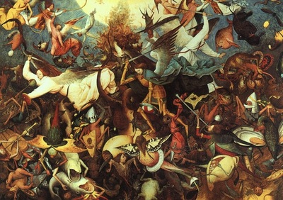 BRUEGEL, PIETER THE FALL OF THE REBEL ANGELS, 1562, OAK