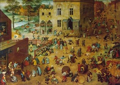 Bruegel d a  Childrens games, 1560, 118x161 cm, Kunsthistor