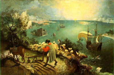 bruegel d a  landscape with the fall of icarus, ca 1558,