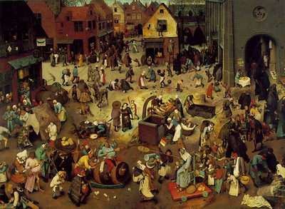 Bruegel d a  The fight between carnival and lent, 1559, 118x