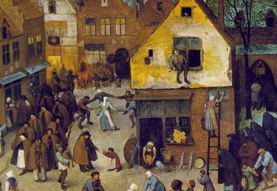 Bruegel d a  The fight between carnival and lent, Detail of