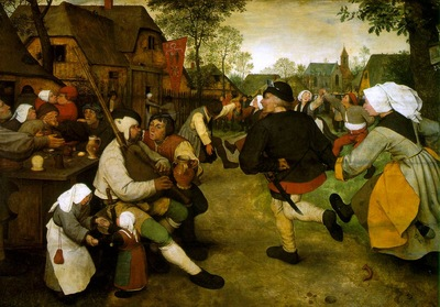 bruegel d a  the peasant dance, 1568, oil on oak panel,