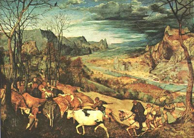 Bruegel d a  The return of the herd, 1565 68, Kunsthistorisc