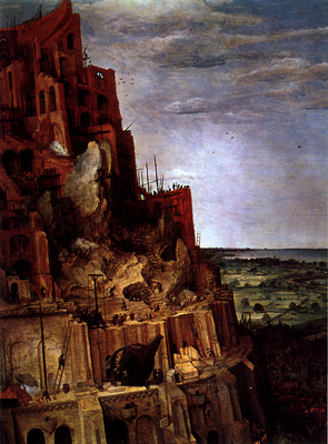 The Tower of Babel detail