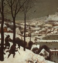 BRUEGEL, PIETER HUNTERS IN THE SNOW, 1565, OIL ON PANEL