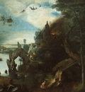 BRUEGEL, PIETER THE TEMPTATION OF SAINT ANTHONY, 1555 58, W