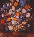 brueghel bouquet in clay vase c1599 or c1607