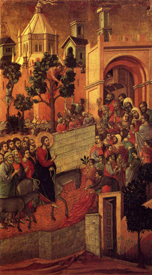 Buoninsegna Duccio di Maesta Entry Into Jerusalem