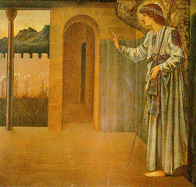 Ang20015 The Annunciation The Angel, Gabriel Sir Edward Burne Jones sqs