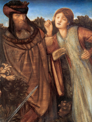 Burne Jones King Mark and La Belle Iseult detail