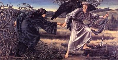 Burne Jones Love Leading the Pilgrim end