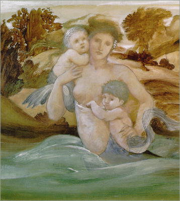 Burne Jones MermaidWithHerOffspring sj