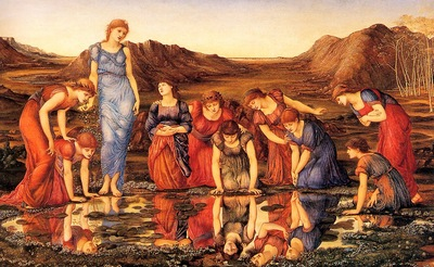 Burne Jones The Mirror of Venus end