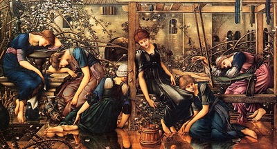 Edward Burne Jones Briar Rose, Garden Court, De