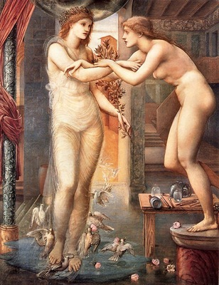 Edward Burne Jones Pygmalion, The Godhead Fires, De