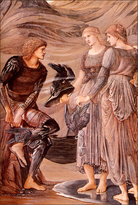 bs ahp Sir Edward Burne Jones The Arming Of Perseus[ Detail]
