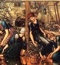 Edward Burne Jones Briar Rose, Garden Court, De