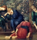 Edward Burne Jones Briar Rose, Garden Court detail , De