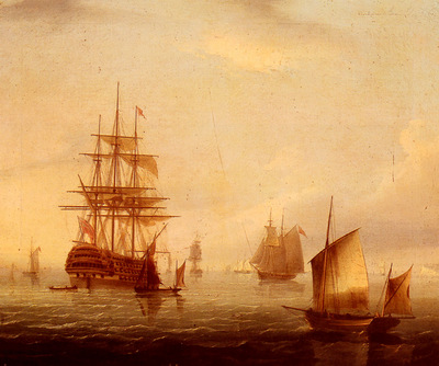 Buttersworth James E Sailing Vessels Off A Coastline
