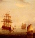 Buttersworth James E Sailing Vessels Off A Coastline