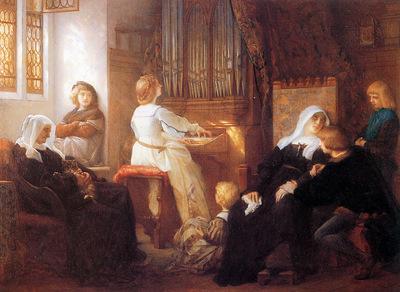 Cabanel Alexandre The choirmasters widow Sun
