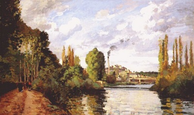 pissarro the banks of the oise, pontoise