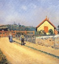 pissarro railway crossing at patis near pontoise 1873