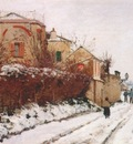 pissarro street in pontoise winter