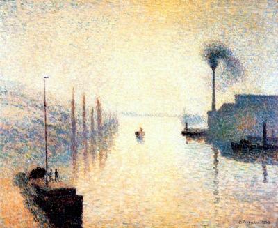 pissarro ile lacroix at rouen fog effect