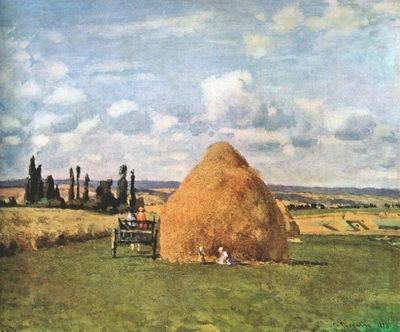 pissarro the haystack, pontoise