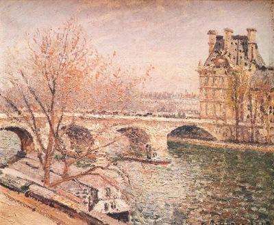 pissarro the pont royal and the pavillon de flore, paris