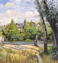 pissarro landscape, bright sunlight, pontoise