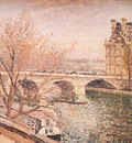 pissarro the pont royal and the pavillon de flore, paris