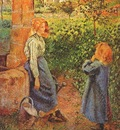 pissarro woman and child at a well