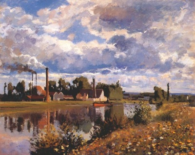 pissarro the river oise near pontoise