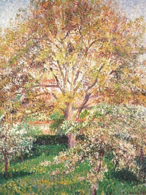 pissarro walnut and apple trees in bloom at eragny