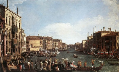 CANALETTO A Regatta On The Grand Canal